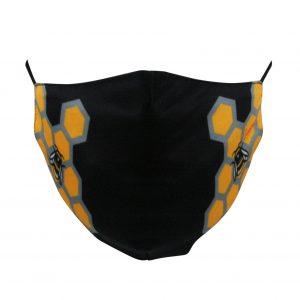 Black & Bee Comb Mask